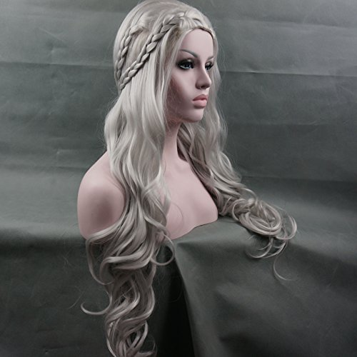 [Generi Sexy Long Grey Body Wavy Cosplay Wig Halloween Costume Wig(1803)] (Long Sexy Wigs)
