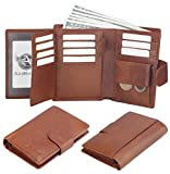 Admetus Men Soft Genuine Leather Card Holder Coin Purse Trifold Wallet gift Box 2