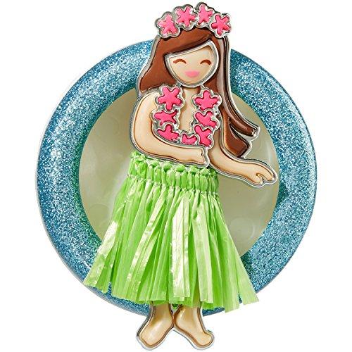 Bath and Body Works Scentportable Car Visor Clip Hula Girl Hawaiian Dancer With Grass Skirt New ()
