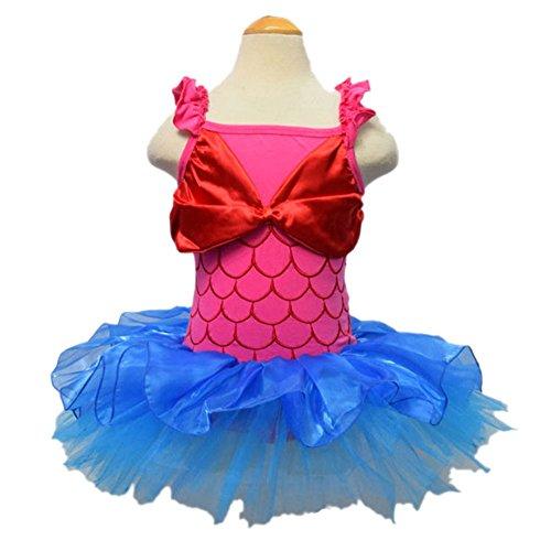 [Little Girl Mermaid Tutu Skirt Dress] (Little Mermaid Tutu Dress)