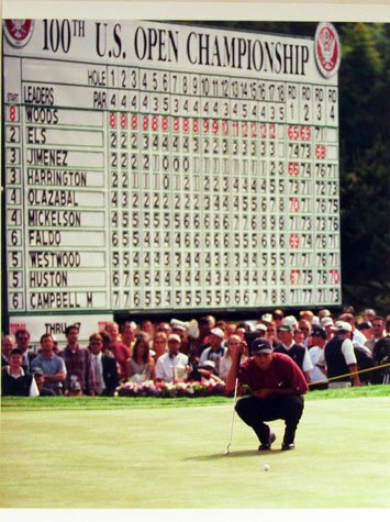 Tiger Woods 2000 US Open Leaderboard & Pebble Beach Coastline 16x20 Photographs Unframed by Sports Gallery...
