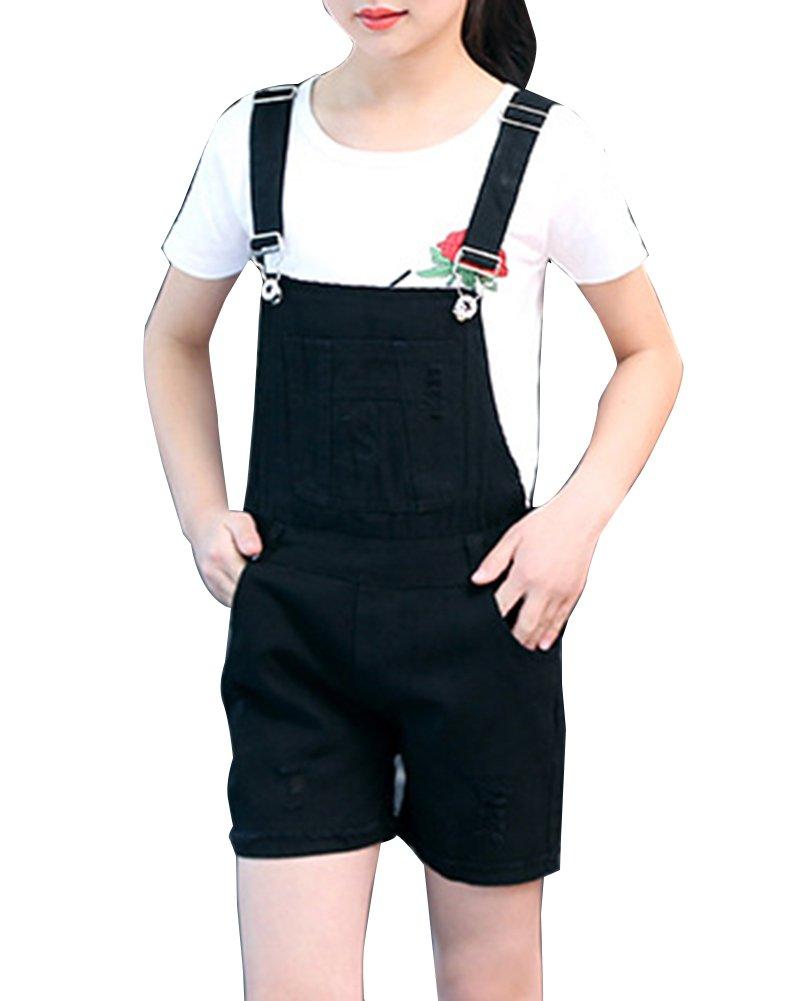 GladiolusA Ragazze Salopette Di Jeans Corta Denim Overall Tuta Monopezzi E Tutine Denim Jumpsuit