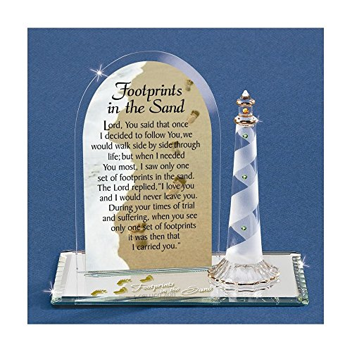 - Footprints In The Sand Glass Figurine