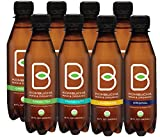 B-tea Kombucha Raw Organic Tea, Only 2g of Sugar, Probiotics and Prebiotic, Promotes Healthy Weight Loss, Kosher, 8 oz, 8 Count