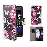 32nd Design book wallet PU leather case cover for Blackberry Z10 - Gerbera