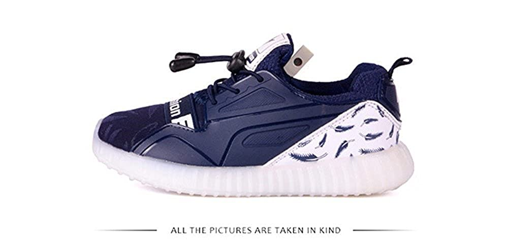 FG21ds21g Boys/&Girls 11 Colors LED Light Up Shoes Kids USB Charge Flashing Sneakers for Christmas