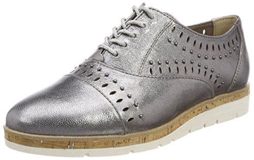 TOZZI Pewter Metall 23504 Women's premio 926 Oxfords Grey MARCO vxBd6Cwq6