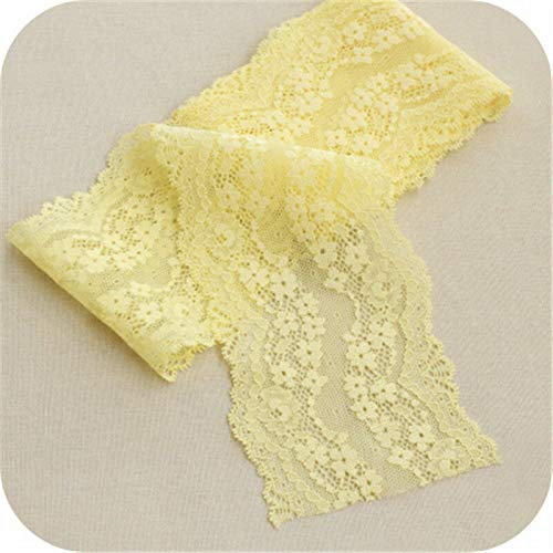 FidgetKute 5Yards Soft Elastic Lace Trims Double Edge Ribbon DIY Home Deco 3.54