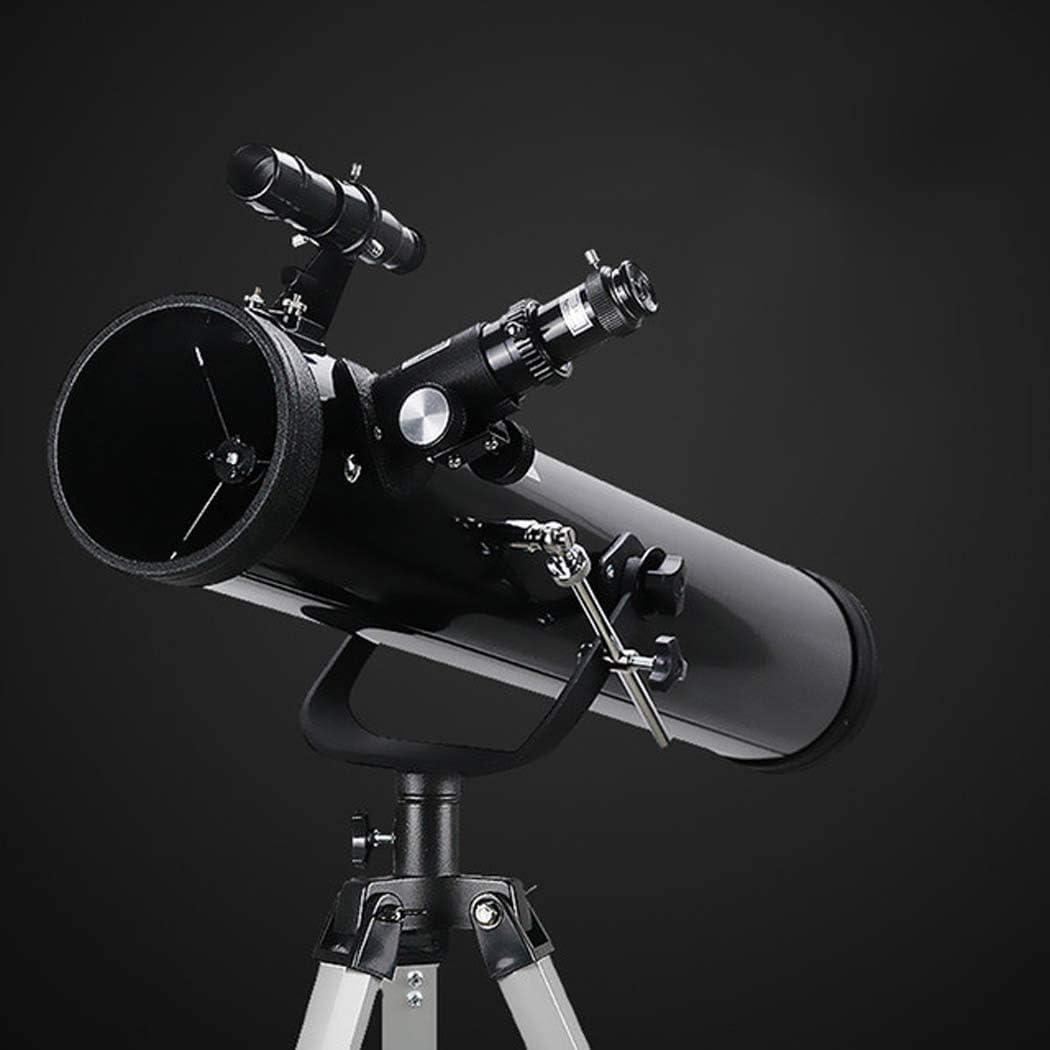 ZHCJH Telescopio astronómico, telescopio monocular con Zoom, visión Nocturna para observación de Aves, Safari, Caza, Viajes, conciertos, Juegos Deportivos, Regalos, Negro, Plateado
