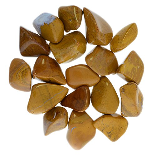 Digging Dolls: 1/2 lb Tumbled Yellow Jasper Stones from Madagascar - 0.75