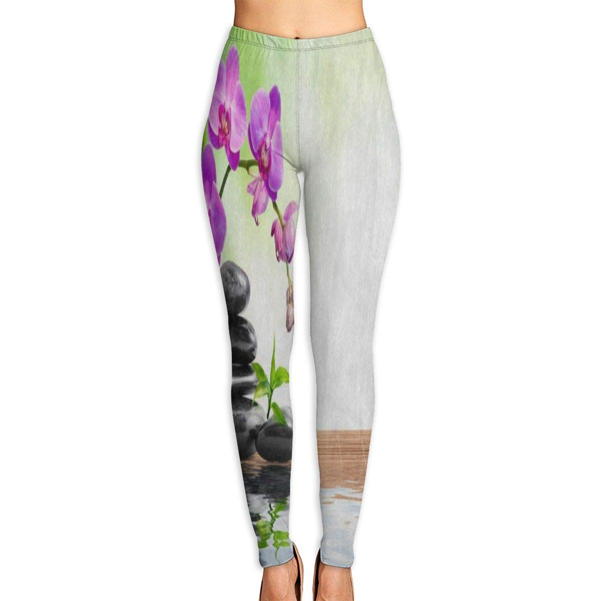 1c54a52441b1dd Custom Yoga Pants Stone Water Zen Pink Floral Bamboo Leggings Pants for  Yoga Running Pilates Gym for Women, Men Girls at Amazon Women's Clothing  store: