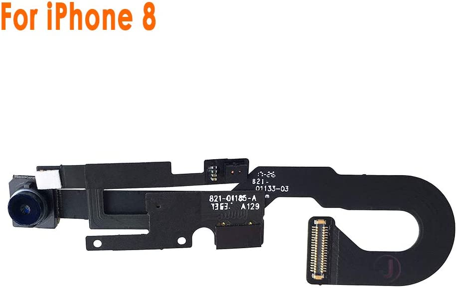 Johncase New OEM 7MP Front Facing Camera Module w/Proximity Sensor + Microphone Flex Cable Replacement Part Compatible for iPhone 8 (All Carriers)