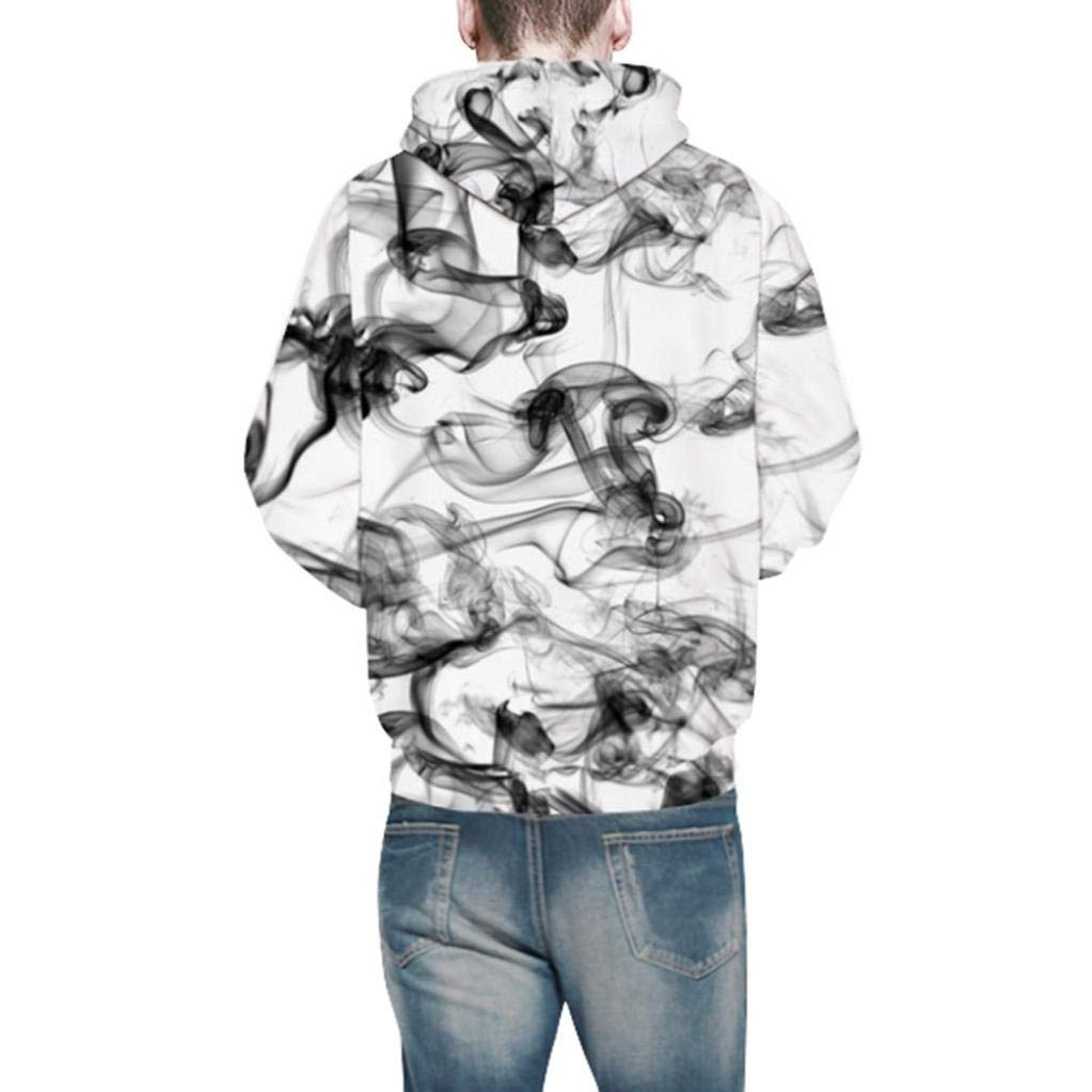 DBHAWK Mens A Variety Styles Printing Hooded,Fashion Autumn Winter 3D Printed Long Sleeve Pullover CapsSweatshirt Top Blouse