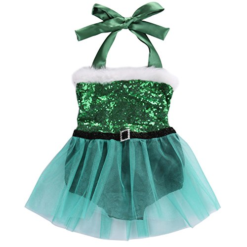 Baby Toddler Girls Halter Christmas Romper Tutu Bodysuit Dress Costume Outfits (2-3 Years, (Cute Thing One And Thing Two Costumes)