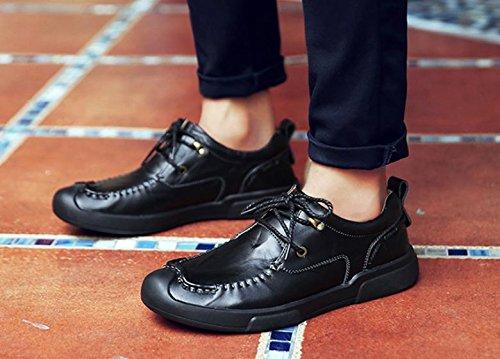 La nueva tendencia de los zapatos de los hombres zapatos de cuero transpirable moda negocio 2