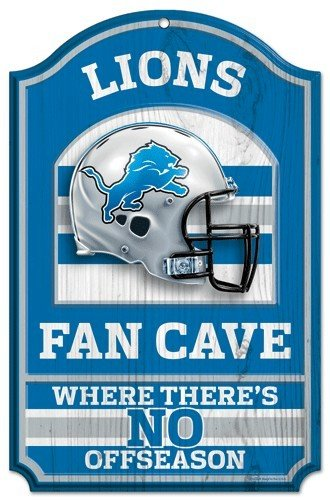 Wincraft NFL Detroit Lions 05429010 Wood Sign, 11