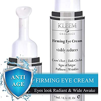 NEW Anti Aging Eye Cream for Dark Circles and Puffiness that Reduces Eye Bags, Crow's Feet, Fine Lines, and Sagginess in JUST 6 WEEKS. The Most Effective Under Eye Cream for Wrinkles (0.51 fl.oz)