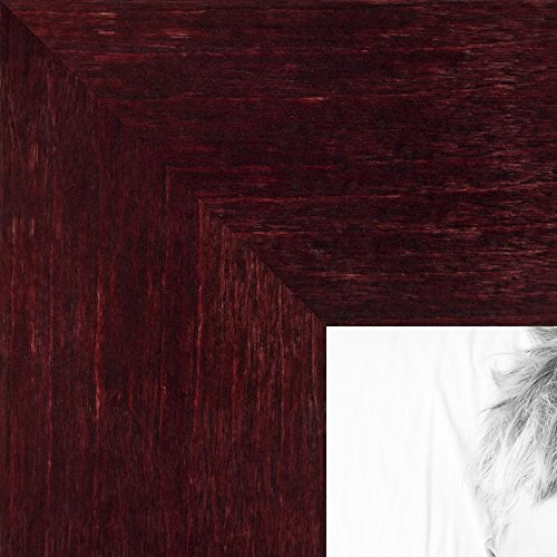 ArtToFrames 8x10 inch Dark Cherry Stain on Hard - 8 X 10 Photo Frame Cherry