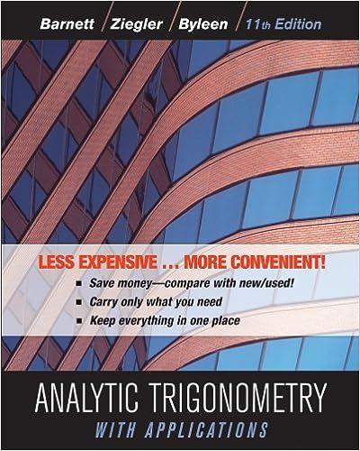 Amazon com: Analytic Trigonometry with Applications, Binder Ready
