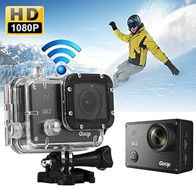 AUDEW GIT2 Action Camera, 1440P HD 1.5 inches LCD Wi-Fi Waterproof Mini Sport Digital Video Camera