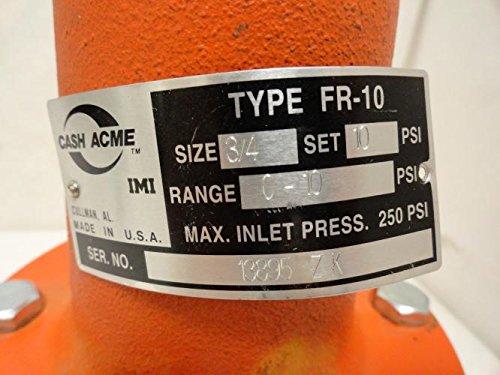Cash Acme FR-10 3/4 Pressure Relief Valve, 3/4 NPT, 0-10Psi