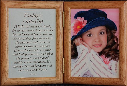 amazoncom 5x7 hinged daddys little girl picture poem photo frame gift for fathers day black double frames