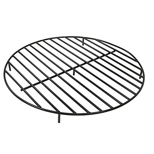 Sunnydaze Fire Pit Grate - Heavy-Duty Steel - Round Firewood Grate for Outdoor Firepits - 36-Inch Black (Firewood Grates)