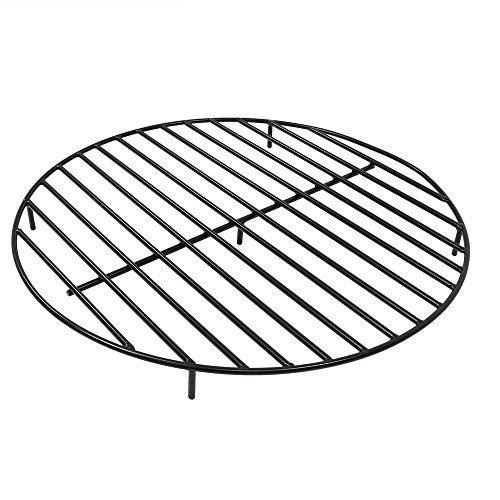 Sunnydaze Round Outdoor Fire Pit Grate, Heavy Duty Steel, 36-Inch, Black ()