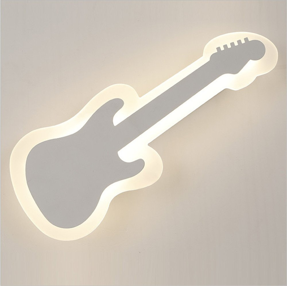 Led Wall Lamp Bedside Light Acrylic Modern Minimalist Living Room Bedroom Guitar Children'S Wall Lamp, 400mm160mm55mm