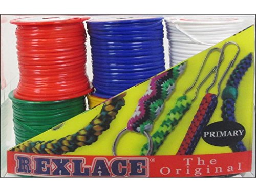 Pepperell Braiding Co. Pepperell Pk Rexlace 6 Pack Primary - Lacing Braiding Plastic Rexlace Craft