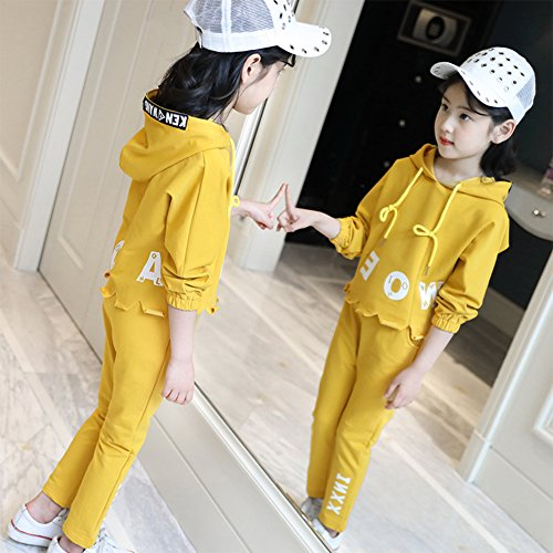 M&A Girls Fashion Tracksuit Clothing Set Hoodie + Pants Spring Autumn by M&A (Image #2)