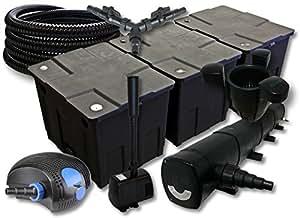 SUNSUN Juego de filtros 90000l Estanque con 72W depuradora 100W ECO Bomba 25m Manguera Skimmer springbrunnen