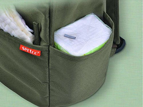 Bolso de la momia, bolso de múltiples funciones de la madre de los hombros de la capacidad grande, bolsos maternos e infantiles, van la mochila, mamás de la manera mujeres embarazadas ( Color : Khaki  Khaki
