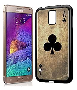 Vintage Playing Cards Ace of Clubs Phone Case Cover Designs for Samsung Galaxy Note 4