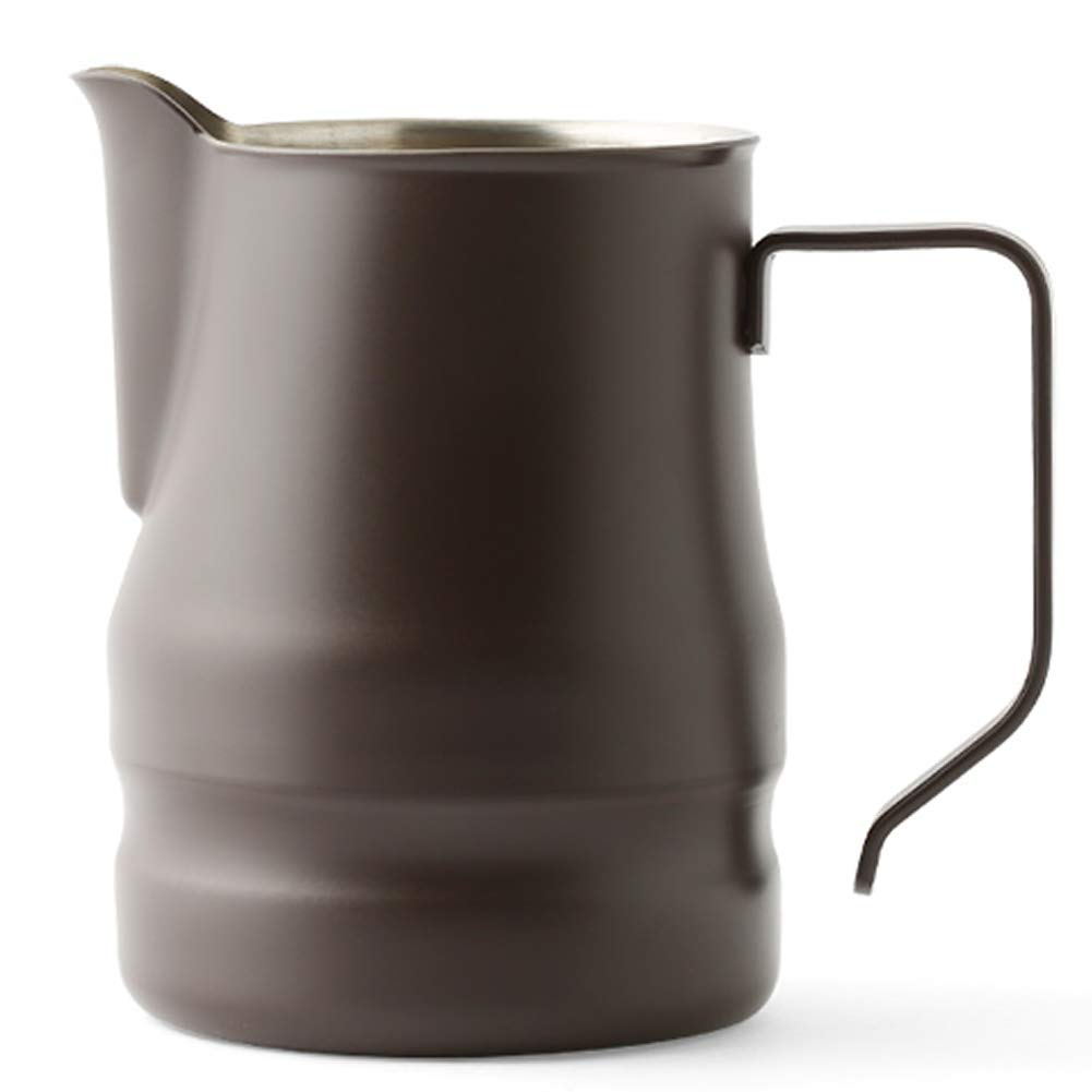 Ilsa Evolution Milk Frothing Pitcher Professional Latte Art Milk Steaming Jug Stainless Steel, Coffee Grey - 500ml / 16oz
