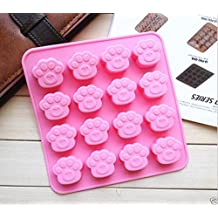 Ainest Paws Dog Cat Silicone Bakeware Mould Chocolate Mold Cookie Candy Baking Tin Pan