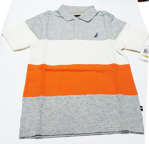 ec6246c098d310 Amazon.com: Nautica Boys Polo Shirt, Grey, Small (4): Clothing