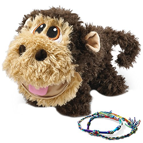 Stuffies Baby Scout The Monkey, Soft and Cute Plush Stuffed Animal Toy For Kids and 2 Friendship Bracelets -