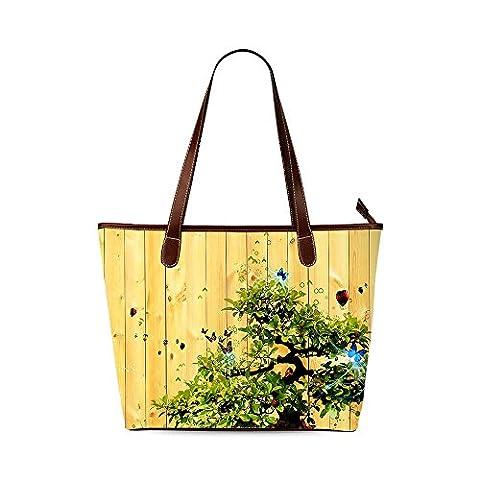 Wood Custom Interest Print Tote Bag - Earthway Bag Seeder