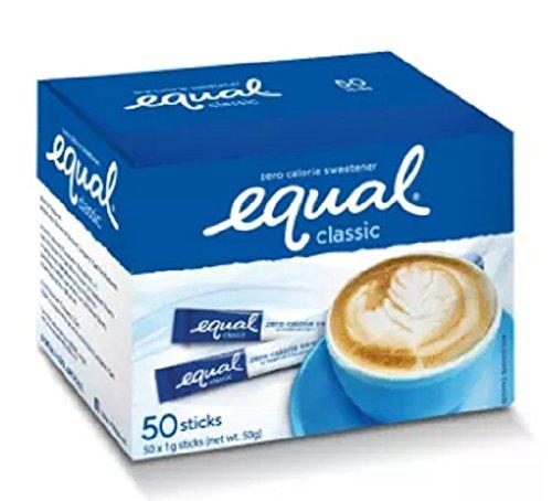 Equal Classic Zero Calorie Sweetener Sticks 1 g x 50 sticks by Equal Classic Zero (Image #1)'