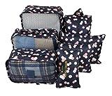 7 Set Travel Packing Organizer,Waterproof Mesh