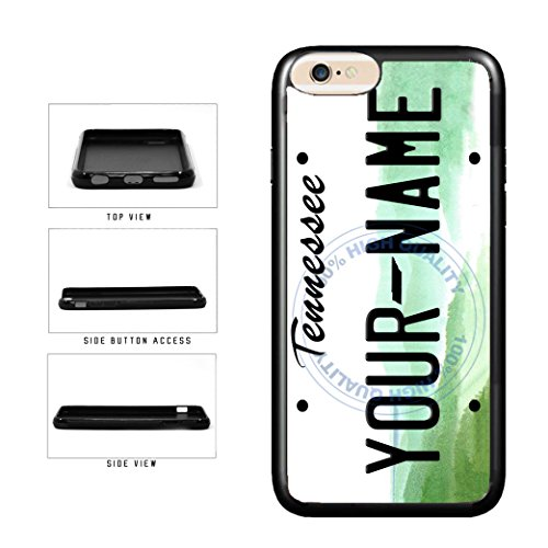 BleuReign(TM) Personalized Custom Name Tennessee State License Plate TPU Rubber Silicone Phone Case Back Cover for Apple iPhone 8 and iPhone 7