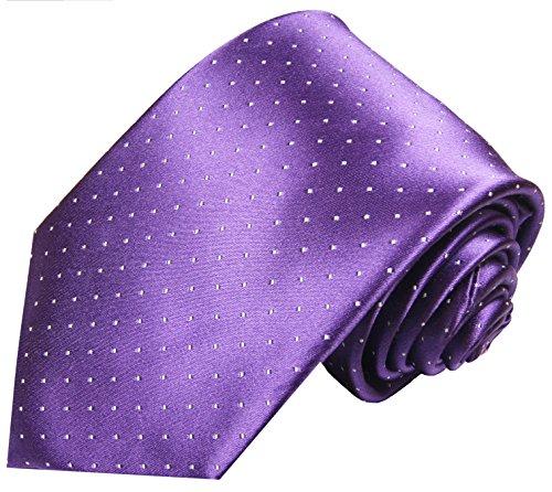 Cravate homme violet á pois 100% soie