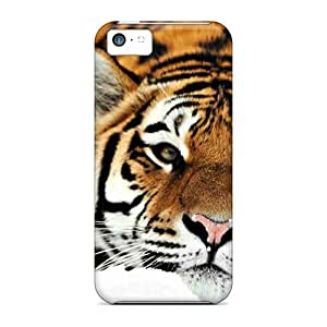 DaMMeke Iphone 5c Hybrid Tpu Case Cover Silicon Bumper Beautiful Tiger