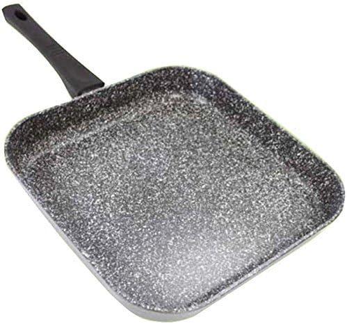Stonewell grande 28 cm parrilla cuadrada granito efecto antiadherente Fry Sartén parrilla para inducción cocina cocinar cocina: Amazon.es: Hogar