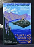 Crater Lake National Park Travel Poster Refrigerator Magnet.