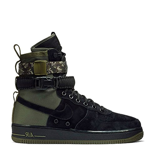 Nike Men's SF AF1 Casual Shoe 9 Black (Nike Sf Air Force 1 High 17)
