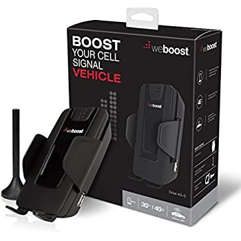 weBoost Drive 4G-S 470107 Vehicle Cell Phone Signal Booster, Cell Booster for Car & Truck, Enhances 4G LTE Cell Signals, Works With All U.S. Wireless Carriers Verizon, AT&T, Sprint, T-Mobile & More