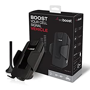 weBoost Drive 4G-S 470107 Cell Phone Signal Booster, Cell Signal Booster for Car & Truck, Boosts 4G LTE Cell Signals – Enhance Your Cell Phone Signal up to 32x.