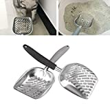 Kocome 1pc Stainless Steel Pet Litter Scoop Cat Dog Sand Clean Remover Tool Pet Food Spoon